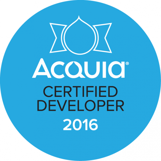 Acquia Certified Developer Badge