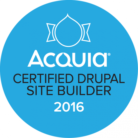 Acquia Certified Site Builder Badge